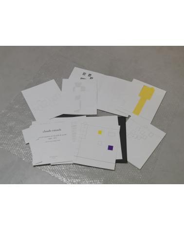 Claude Rutault - Le jeu de la peinture sur une grille de marelle, 2009-1971