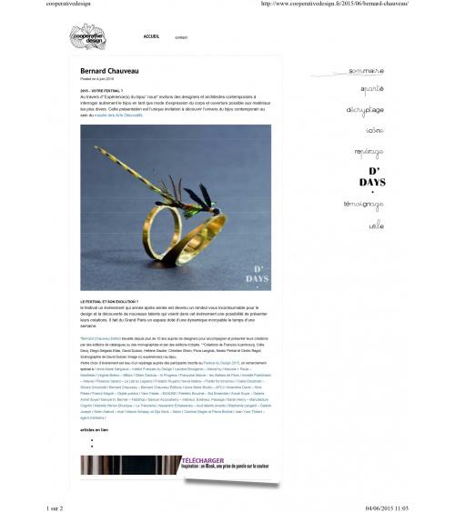 Bijoux d'artistes aux Arts déco de Paris - Cooperativedesign.fr