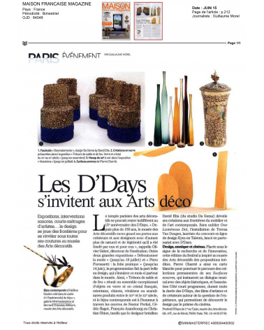Expérience(s) du bijou DDays - Maison Française Magazine (juin 2015)