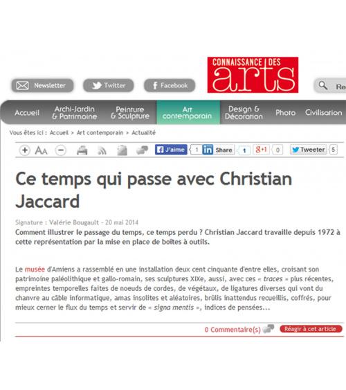 Christian Jaccard - Connaissance des arts (20.05.14)