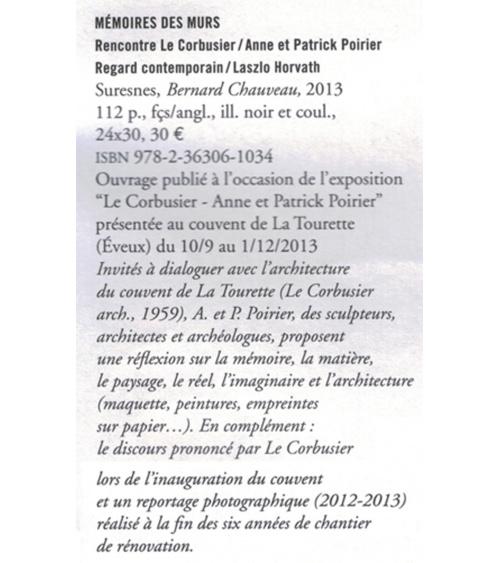 Mémoire des murs - Archiscopie (été 2014)