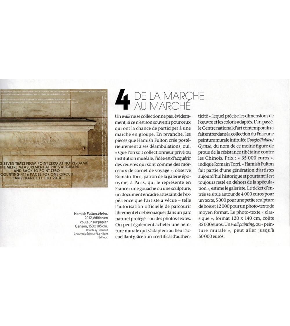 Hamish Fulton - L'Oeil (décembre 2013)
