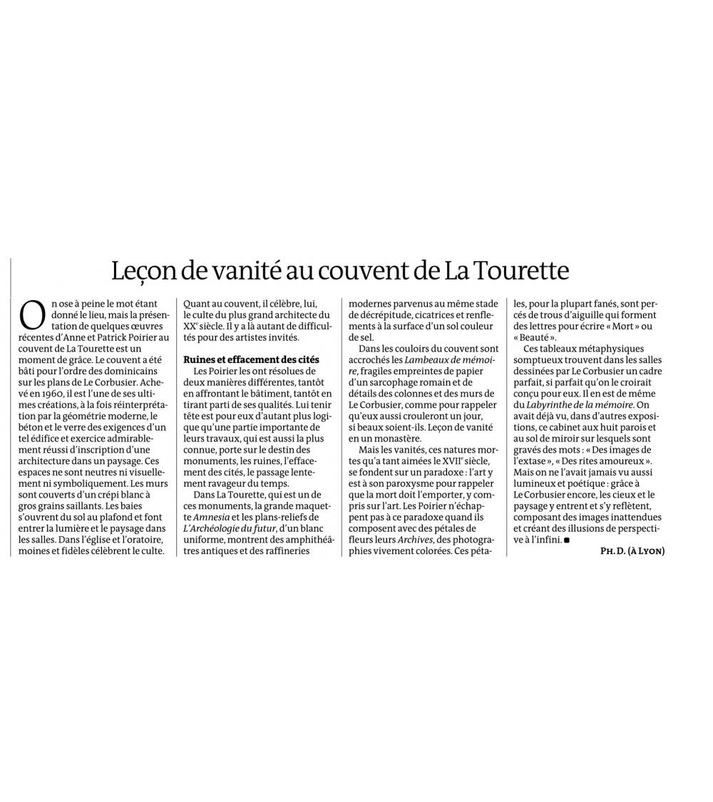 Mémoire des murs - Le Monde (12.09.13)
