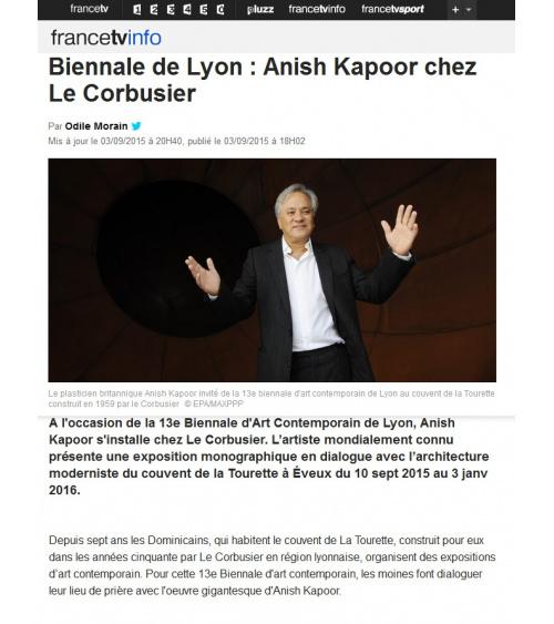 Francetvinfo - Anish Kapoor chez Le Corbusier (03.09.2015)