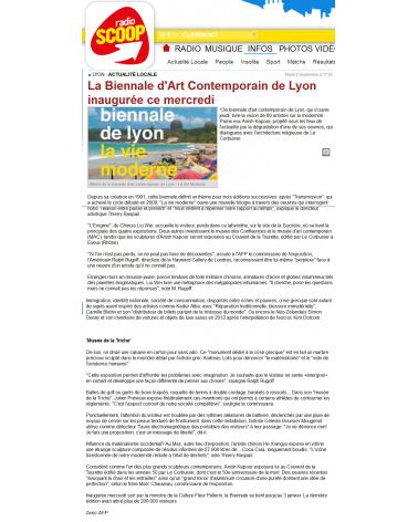 Radio Soop - La 13e Biennale de Lyon (08.09.2015)