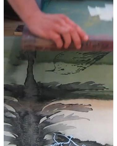 Sérigraphie Françoise Pétrovicth - Lorsque la forêt s'éclaircit -