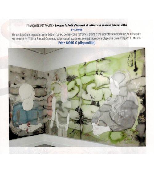 Beaux Arts magazine - Françoise Pétrovitch (décembre 2015)