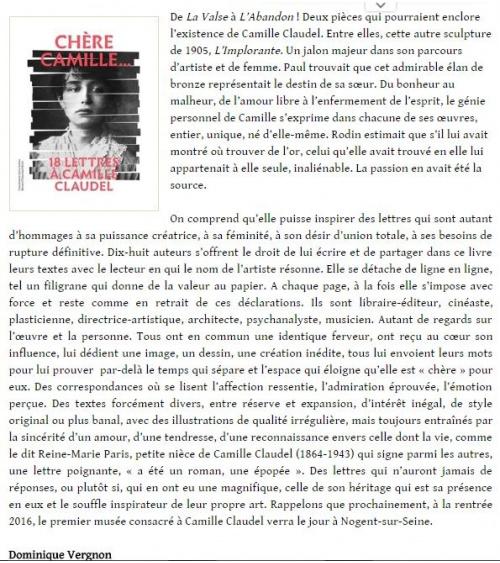 Salon Littéraire - Article juin 2016