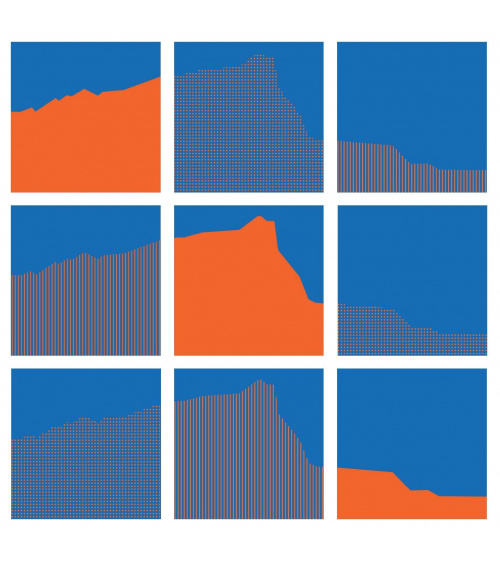 Vera Molnar - Sainte-Victoire Interchangeables (Orange & Blue)