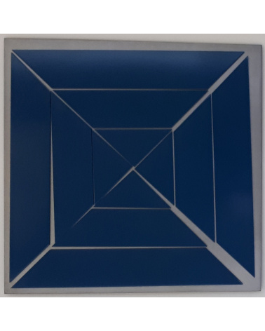 Vera Molnar - Carré coupé en 12 en diagonales