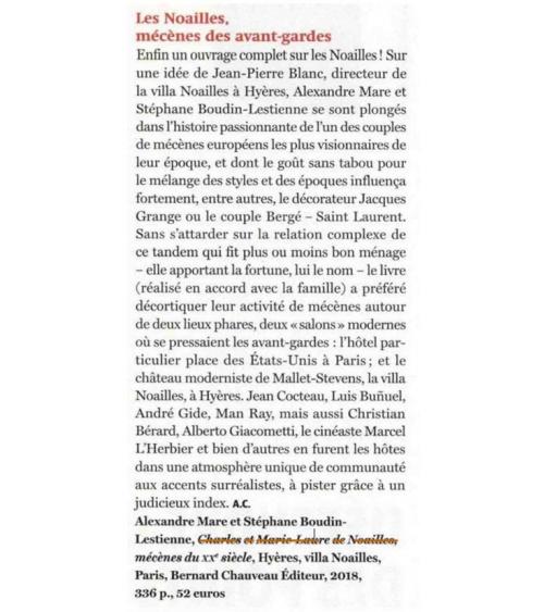 Charles et Marie-Laure de Noailles dans The Art Newspaper