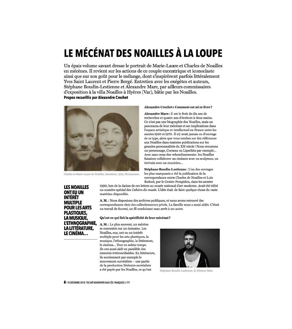 Charles et Marie-Laure de Noailles Art Newspaper
