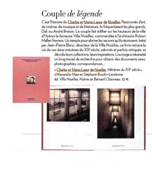 Charles et Marie-Laure de Noailles dans Paris Match
