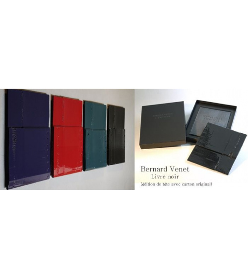 Bernar Venet - Livre noir / carton original