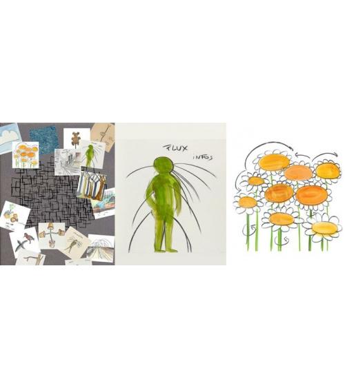 Fabrice Hyber - Je s'aime - tapis feutre peint original